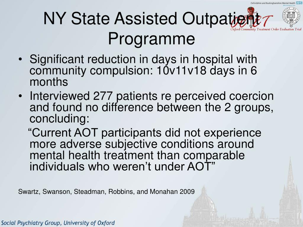 NY State Assisted Outpatient Programme