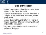 rules of precedent