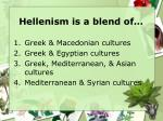 hellenism is a blend of