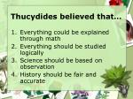 thucydides believed that