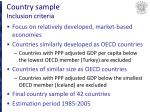 country sample inclusion criteria