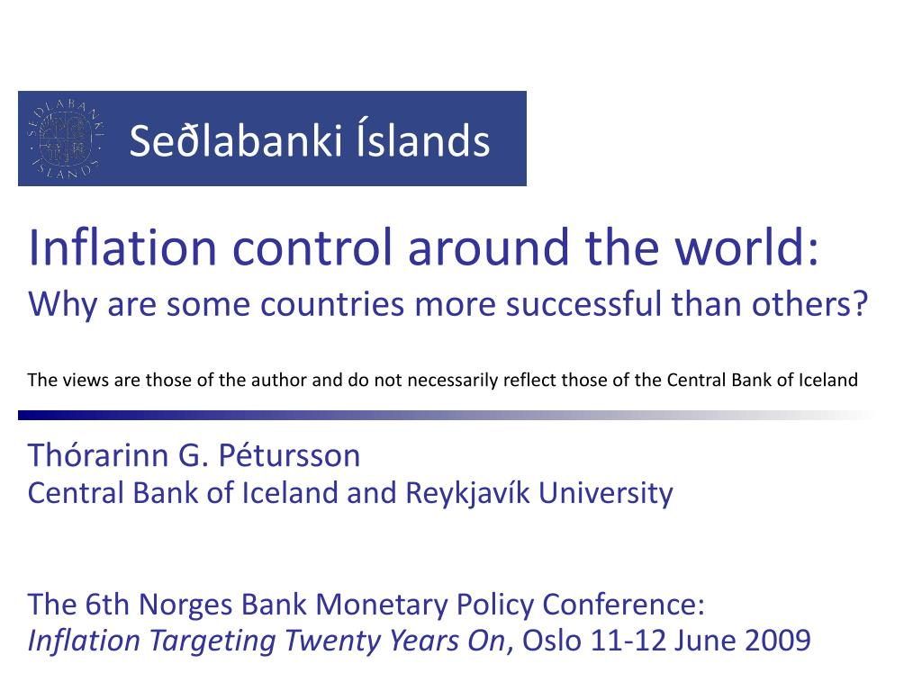 inflation control around the world why are some countries more successful than others l.
