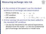 measuring exchange rate risk11