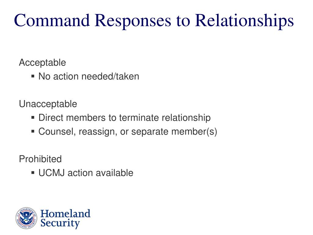 Command Responses to Relationships