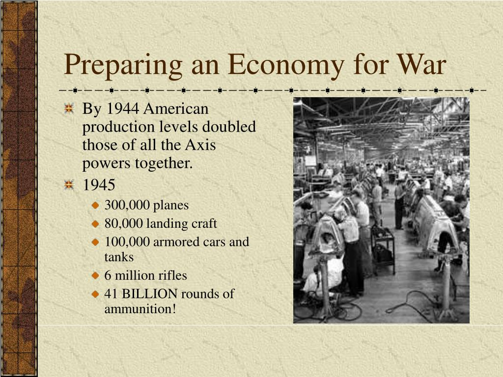 Preparing an Economy for War