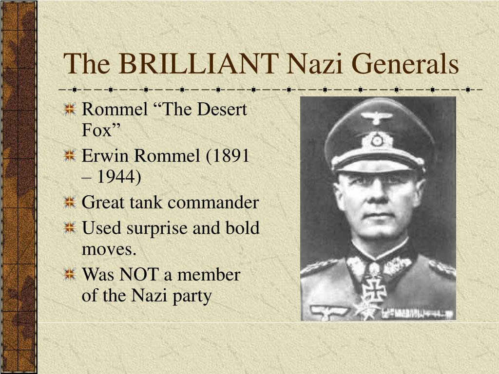 The BRILLIANT Nazi Generals