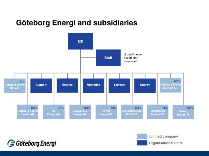 G teborg energi and subsidiaries