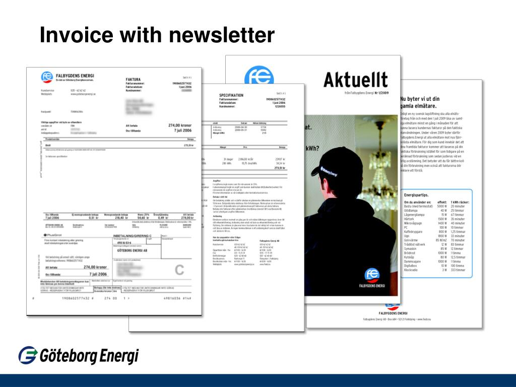 Invoice with newsletter