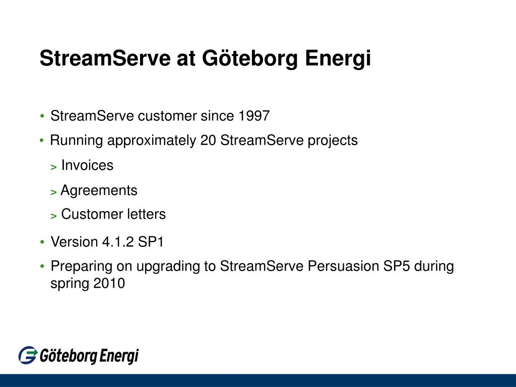 StreamServe at Göteborg Energi