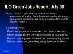 ilo green jobs report july 08