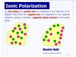 ionic polarization