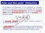 polar and non polar dielectrics