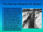 the german advance on verdun