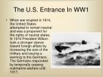 the u s entrance in ww1
