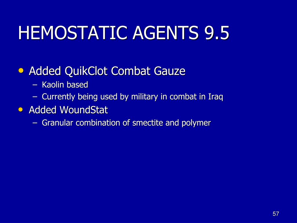 HEMOSTATIC AGENTS 9.5
