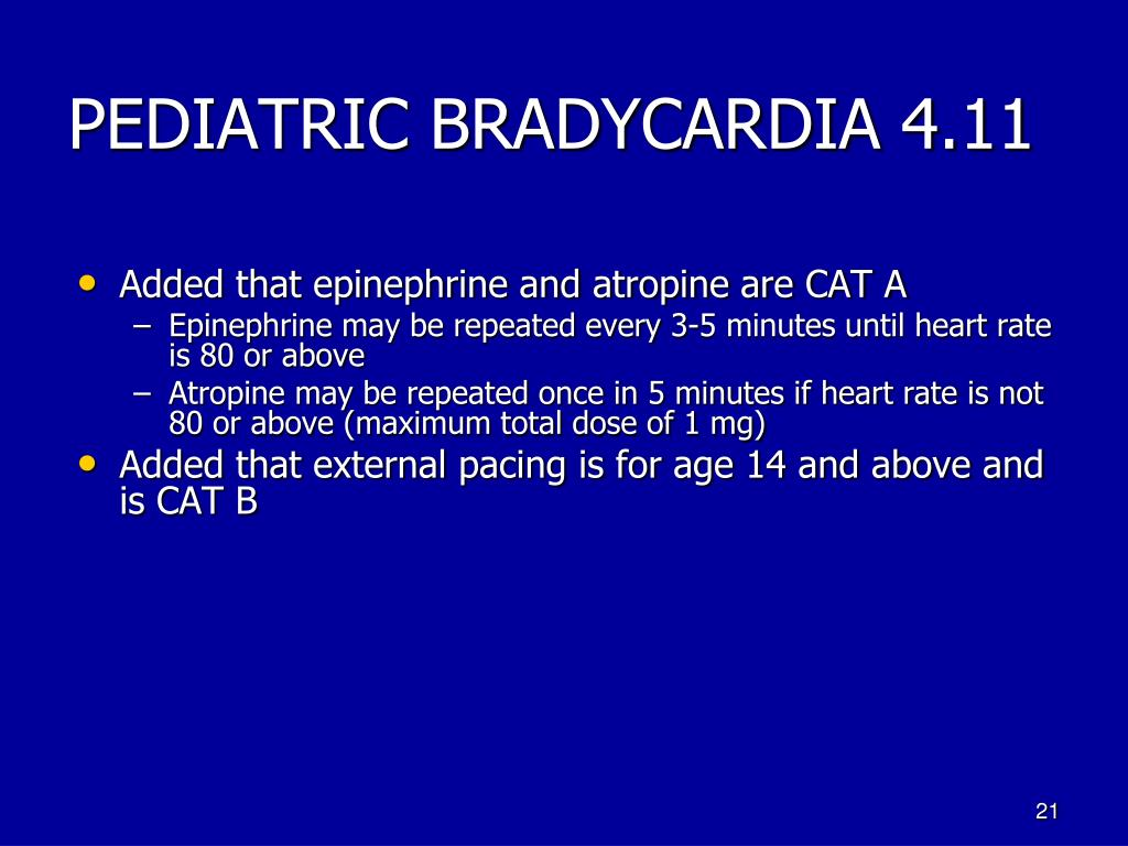 PEDIATRIC BRADYCARDIA 4.11