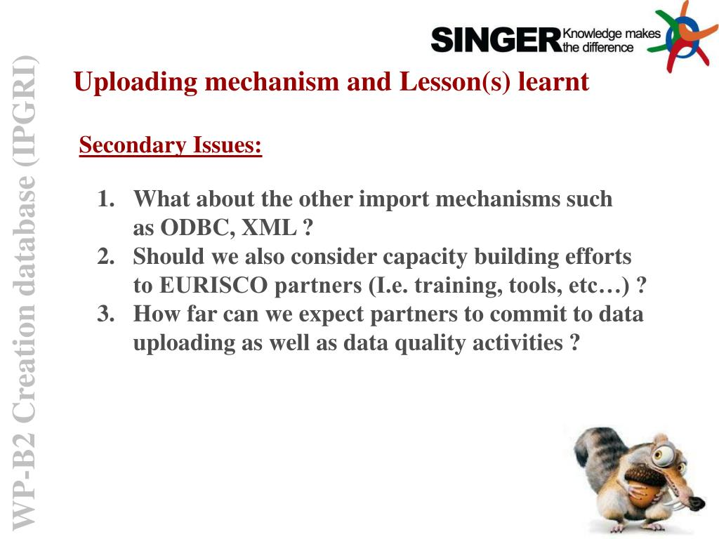 Uploading mechanism and Lesson(s) learnt