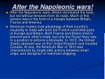 after the napoleonic wars