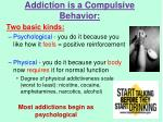 addiction is a compulsive behavior