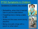 ptsd symptoms in children
