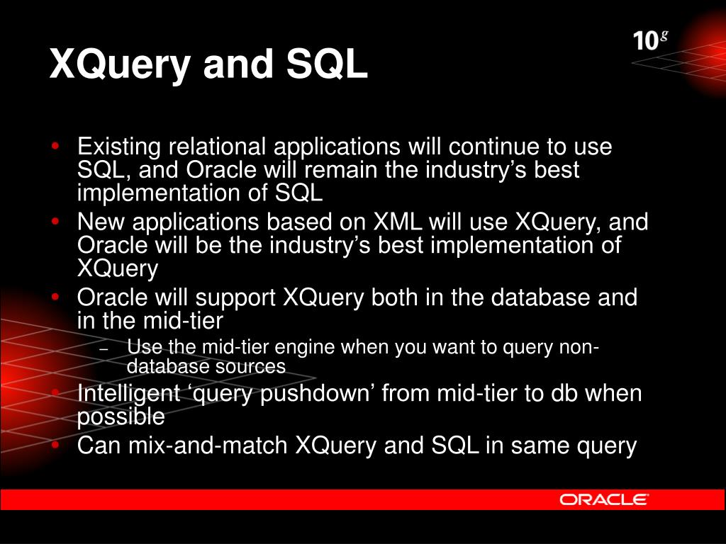 XQuery and SQL