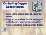 controlling oxygen concentration