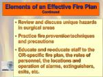 elements of an effective fire plan continued