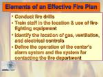 elements of an effective fire plan