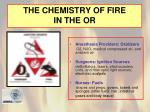 the chemistry of fire in the or