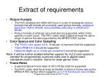 extract of requirements