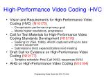 high performance video coding hvc