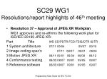 sc29 wg1 resolutions report highlights of 46 th meeting5