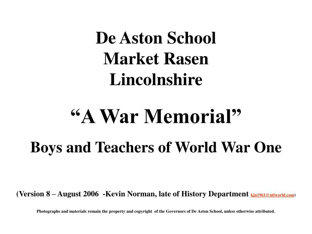 de aston school market rasen lincolnshire l.