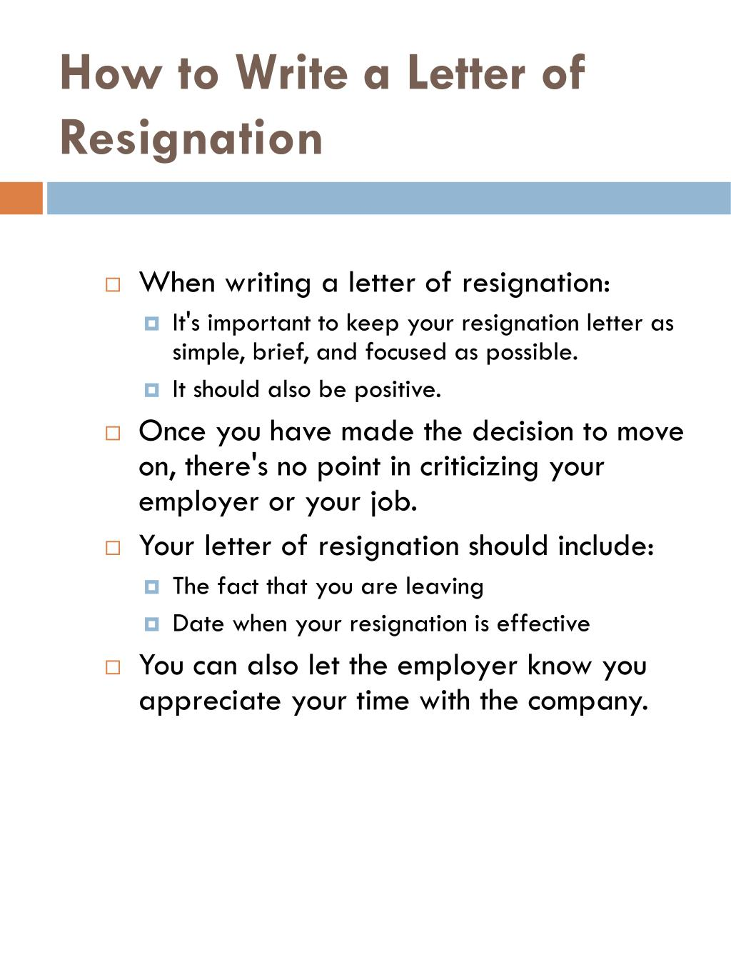 How to Write a Letter of Resignation