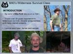 m40 s wilderness survival class