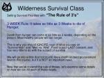 wilderness survival class14