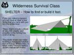 wilderness survival class15