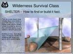 wilderness survival class16