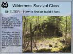 wilderness survival class17