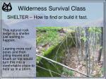 wilderness survival class18