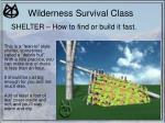 wilderness survival class19