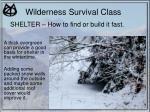 wilderness survival class21