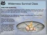 wilderness survival class22