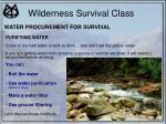 wilderness survival class26
