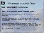 wilderness survival class30