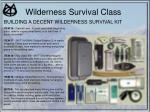 wilderness survival class41