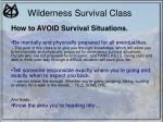 wilderness survival class8