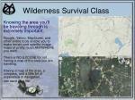 wilderness survival class9