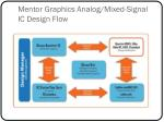 mentor graphics analog mixed signal ic design flow