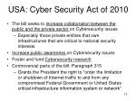 usa cyber security act of 2010